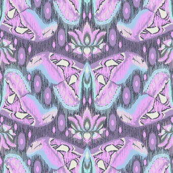 Amethyst Atlas - Eden by Tula Pink - Schmetterlingsstoff