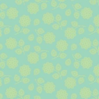 Aqua Henna -  Eden by Tula Pink - Blumenstoff