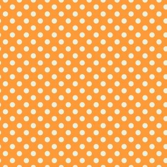 Begonia Pom Poms  - All Stars by Tula Pink - Pünktchenstoff mit wollweißen Punkten auf Orange