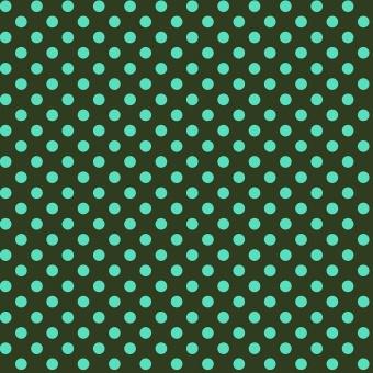 Fern Pom Poms  - All Stars by Tula Pink - Pünktchenstoff mit türkise Punkten auf Grün