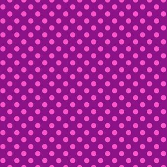 Foxglove Pom Poms  - All Stars by Tula Pink - Pünktchenstoff mit pinken Punkten auf Lila
