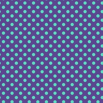 Iris Pom Poms  - All Stars by Tula Pink - Pünktchenstoff mit türkisen Punkten auf Cobaltblau