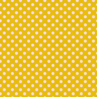 Marigold Pom Poms  - All Stars by Tula Pink - Pünktchenstoff mit rosa Punkten auf Orange-Gelb