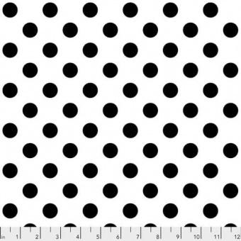 Paper Pom Poms Pünktchenstoff - Linework / All Stars Tula Pink Designerstoff - Schwarz auf Weiß FreeSpirit Patchworkstoffe