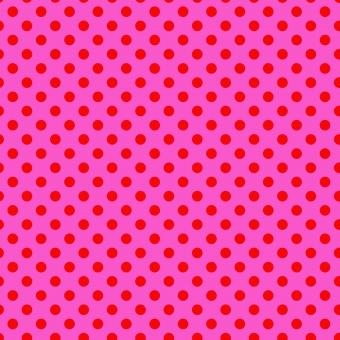 Peony Pom Poms  - All Stars by Tula Pink - Pünktchenstoff mit pinken Punkten auf Violett