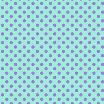 Petunia Pom Poms  - All Stars by Tula Pink - Pünktchenstoff mit blauen Punkten auf Hellblau-Türkis