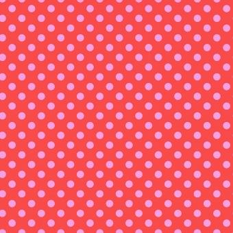 Poppy Pom Poms  - All Stars by Tula Pink - Pünktchenstoff mit rosa Punkten auf Pink
