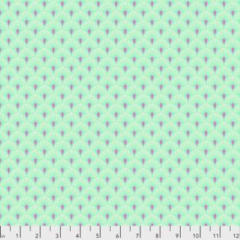 Cotton Candy Serenity Blumenstoff - Tula Pink Pinkerville Patchworkstoffe