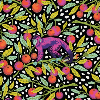 Guava Monkey Wrench Affenstoff - Monkey Wrench Designerstoffe - Tula Pink Patchworkstoffe