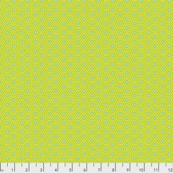 Chameleon Hexy Hexagonstoff - True Colors Tula Pink Basicstoffe - FreeSpirit Patchworkstoffe