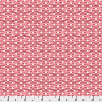 Flamingo Hexy Hexagonstoff - True Colors Tula Pink Basicstoffe - FreeSpirit Patchworkstoffe