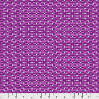 Thistle Hexy Hexagonstoff - True Colors Tula Pink Basicstoffe - FreeSpirit Patchworkstoffe
