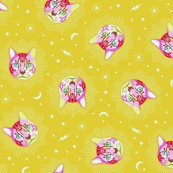 Wonder Cheshire Cat Katzenstoff- Curiouser and Curiouser Tula Pink - FreeSpirit Alice in Wonderland Patchworkstoffe