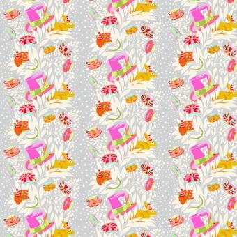 Wonder 6pm Somewhere - Curiouser and Curiouser Tula Pink - FreeSpirit Alice in Wonderland Patchworkstoffe  - VORBESTELLUNG!