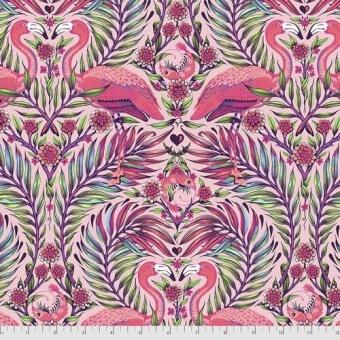 Dragonfruit Pretty in Pink Flamingo & Shrimps - Daydreamer Tula Pink Designerstoffe - Tropische FreeSpirit Patchworkstoffe - VORBESTELLUNG! ca. November 2021