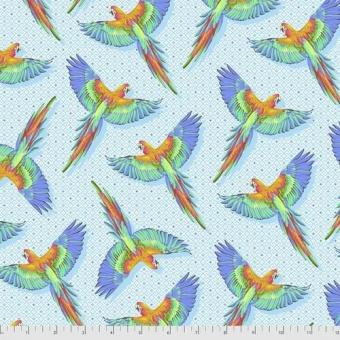 Cloud Macaw Ya Later - Daydreamer Tula Pink Designerstoffe - Tropische FreeSpirit Patchworkstoffe - VORBESTELLUNG! ca. November 2021