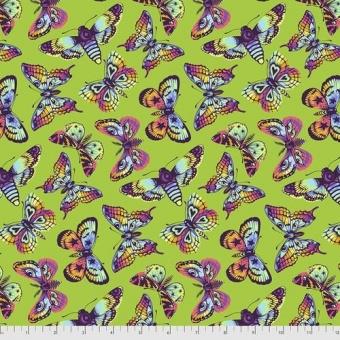 Avocado Butterfly Kisses - Daydreamer Tula Pink Designerstoffe - Tropische FreeSpirit Patchworkstoffe - VORBESTELLUNG! ca. November 2021