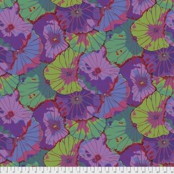 ÜBERBREITER RÜCKSEITENSTOFF! Purple Lotus Leaf - Kaffe Fassett Collective Designerstoffe - Spring 2021 -  Blumenstoff Quilt Backing Patchworkstoff