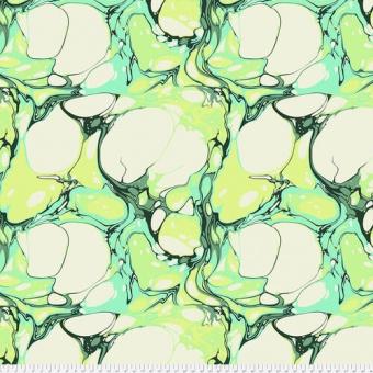 Tula Pink's Quilt Backing Frolic Pinkerville  - Überbreiter Rückseitenstoff mit grün-türkiser Marmorierung