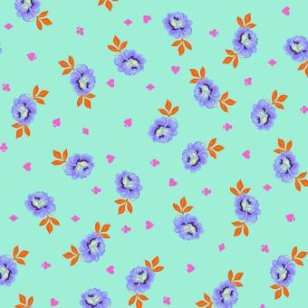 RÜCKSEITENSTOFF! Daydream Big Buds Rosenstoff - Curiouser and Curiouser Tula Pink - FreeSpirit Alice in Wonderland Patchworkstoffe