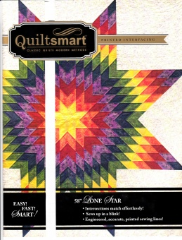 Lone Star Spezialvlies Materialpackung & Anleitung: 147cm / 58 inches Lone Star  Quiltsmart Snuggle Pack