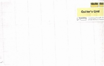 Quilters Grid 2,5cm - 1 inch - 112cm x 15m Rolle / Ballen