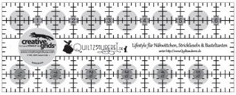 Quiltzauberei.de Inch-Lineal für Nähwittchen, Stricklieseln & Basteltanten