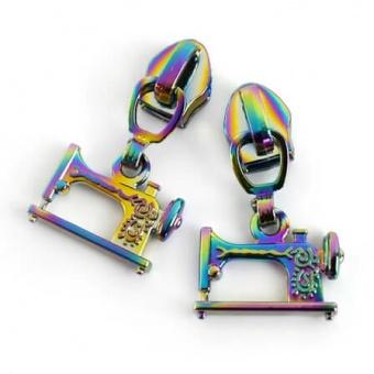 Robuste Regenbogen Nähmaschine Reißverschlusszupfer für #5 Endlosreißverschlüsse - Rainbow Iridescent Sewing Machine Zipper Pulls 5mm Reißverschlusswagen