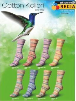 Regia Cotton Kolibri Color Baumwollsockengarn - Strickgarn / Sockengarn
