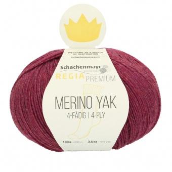Merino Yak Strickgarn - Deluxe Sockenstrickgarn - Regia Premium - Schachenmayr Strumpfgarn Raspberry Meliert #7517