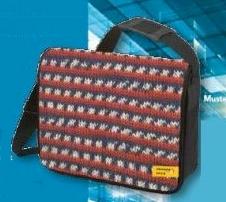 College / Laptop Tasche mit Norwegermuster - Limited Edition Metropole Color - Regia Schachenmayr Umhängetasche