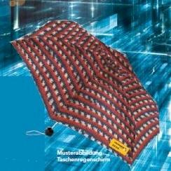 Regenschirm mit Norwegermuster - Limited Edition Metropole Color - Regia Schachenmayr Mini-Taschenschirm mit Automatik