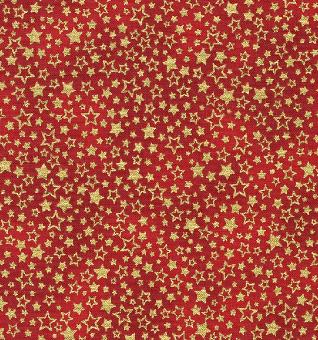 Rot-Goldener Weihnachtsstoff mit Sternen & Sternchen - Green Holiday Charms Metallic-Patchworkstoffe von Robert Kaufman
