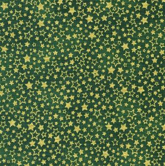 Grün-Goldener Weihnachtsstoff mit Sternen & Sternchen - Green Holiday Charms Metallic-Patchworkstoffe von Robert Kaufman