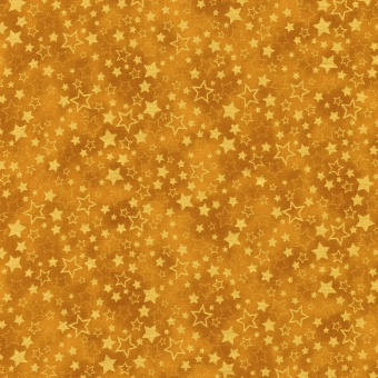 Goldener Weihnachtsstoff mit Sternchen & Sternen - Winter's Grandeur Metallic 7 - Gold Stars Metallic-Patchworkstoffe von Robert Kaufman