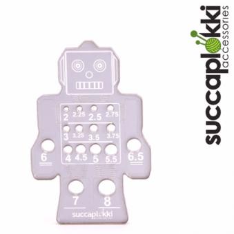 Ropotti Nadelmaß für Stricknadeln - Roboter Stricknadelmaß - Succaplokki