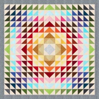 Rolling Meadows - Quilt aus Basicstoffen von Robert Kaufman - DOWNLOAD!