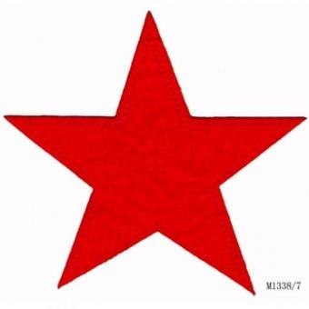 Rotes Sternchen - Große Sternapplikation - Maritimer Unisex Aufnäher / Bügelapplikation