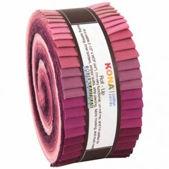 """2 1/2"""" Stoffschnecke - Powder Room Designer Palette - Kona Cotton Solids Roll-Up"""