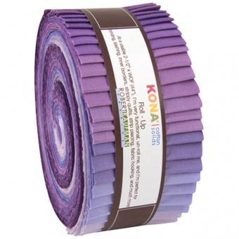 "2 1/2"" Stoffschnecke ""Lavender Fields"" - Kona Cotton Solids Roll-Up"