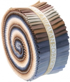 """2 1/2"""" Stoffschnecke - Neutrals Kona Cotton Solids Roll-Up"""