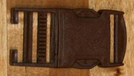 30mm / 3cm Steckverschluss / Klickverschluss / Steckschließe - braun