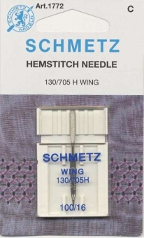 Hohlsaum Nadel - Wing Nähmaschinennadel - Schmetz Sticknadel H WING
