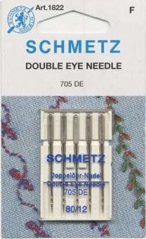 Topstitch Doppelöhrnadeln - Sticknadeln / Nähmaschinennadeln No. 80 Schmetz 130/705 DE