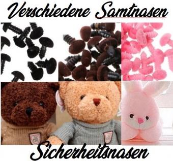 Verschiedene Sicherheitsnasen / Tiernasen / Teddynase / Samtnasen / Nasenknöpfe - Diverse Größen