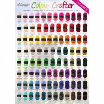 Colour Crafter by Scheepjes - ALLE FARBEN! - Premium Acryl Anti-Pill DK-Weight Häkelgarn & Strickgarn Color Crafter