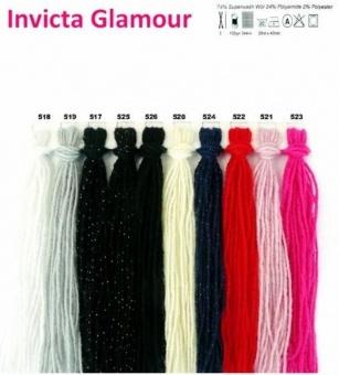 VIELE FARBEN - Scheepjes Invicta Glamour Sockengarn - Glitzer Sockenwolle & Strickgarn mit Glitter