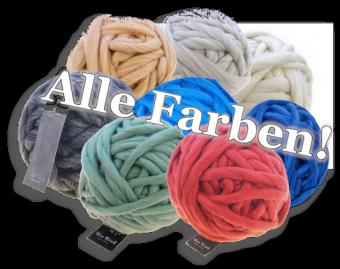 Miss Wool Grobstrickgarn Nadelstärke 20mm - 25mm - Schoppel Chunky Wool Mittelgrau Melange 9200