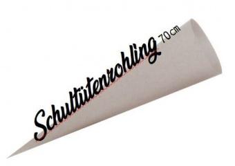 Schultütenrohlinge - 70cm Bastelschultüte in Grau zum Selbernähen & Selbergestalten