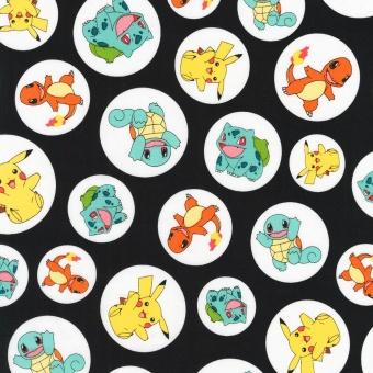 Pokémons Lizenzstoff - Original Nintendo Pokemonstoff - Pikachu, Bisamsam, Turtok, Glumanda uvm. Motivstoff